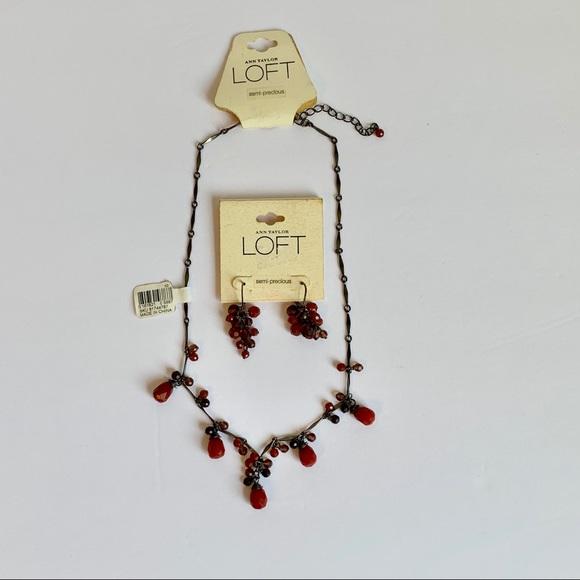 LOFT Jewelry - LOFT Semiprecious Necklace & Earrings Set